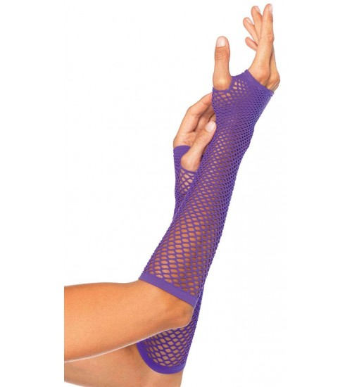 Neon Purple Triangle Net Fingerless Gloves at CrossDress Fashions,  Womens Clothing for Crossdressers, TG, Female Impersonators