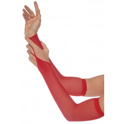 Red Fishnet Arm Warmers CrossDress Fashions  Womens Clothing for Crossdressers, TG, Female Impersonators