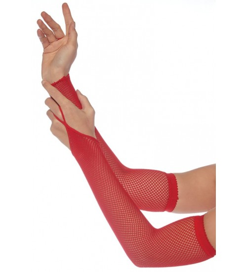 Red Fishnet Arm Warmers at CrossDress Fashions,  Womens Clothing for Crossdressers, TG, Female Impersonators