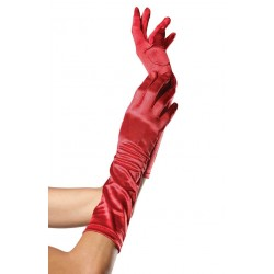 Red Satin Elbow Length Gloves CrossDress Fashions  Womens Clothing for Crossdressers, TG, Female Impersonators