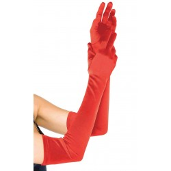 Red Satin Extra Long Opera Gloves CrossDress Fashions  Womens Clothing for Crossdressers, TG, Female Impersonators