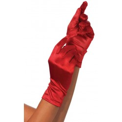Red Wrist Length Satin Gloves CrossDress Fashions  Womens Clothing for Crossdressers, TG, Female Impersonators