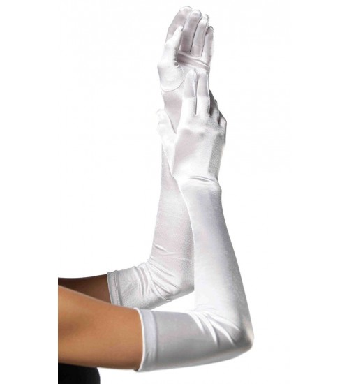 Satin Extra Long White Bridal Opera Gloves at CrossDress Fashions,  Womens Clothing for Crossdressers, TG, Female Impersonators