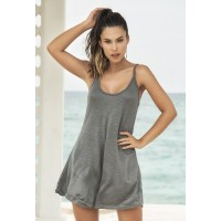 Gray Tank Mini Dress