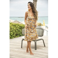 Yellow Floral Sun Dress