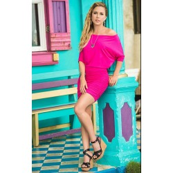 Hot Pink One Shoulder Date Dress
