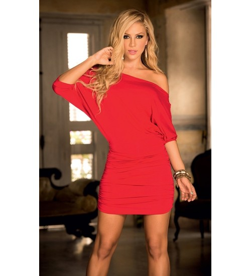 Red Hot One Shoulder Date Dress at CrossDress Fashions,  Womens Clothing for Crossdressers, TG, Female Impersonators