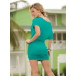 Turquoise One Shoulder Date Dress at CrossDress Fashions,  Womens Clothing for Crossdressers, TG, Female Impersonators