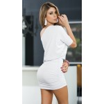 White One Shoulder Date Dress at CrossDress Fashions,  Womens Clothing for Crossdressers, TG, Female Impersonators
