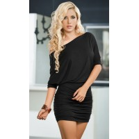 Black One Shoulder Date Dress