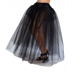 Black Full Length Tulle Skirt CrossDress Fashions  Womens Clothing for Crossdressers, TG, Female Impersonators