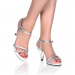 Belle Rhinestone Silver Sandal at CrossDress Fashions,  Womens Clothing for Crossdressers, TG, Female Impersonators