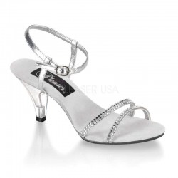 Belle Rhinestone Silver Sandal - Size 11 CrossDress Fashions  Womens Clothing for Crossdressers, TG, Female Impersonators