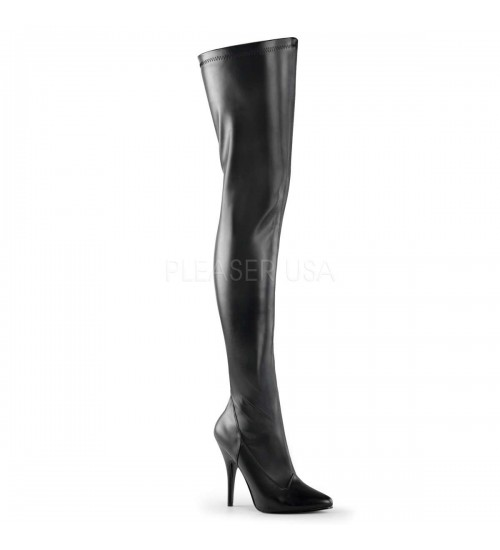 Seduce Black High Heel Thigh High Boots at CrossDress Fashions,  Womens Clothing for Crossdressers, TG, Female Impersonators