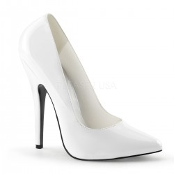 Classic White 6 Inch High Heel Pump CrossDress Fashions  Womens Clothing for Crossdressers, TG, Female Impersonators
