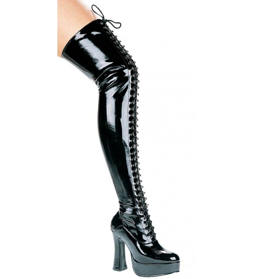 Olivia Lace Up Thigh High Platform Boots at CrossDress Fashions,  Womens Clothing for Crossdressers, TG, Female Impersonators