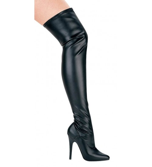 Ally Black Thigh High 5 Inch Heel Boot at CrossDress Fashions,  Womens Clothing for Crossdressers, TG, Female Impersonators