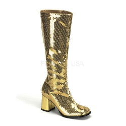 Spectacular Gold Sequin Covered Gogo Boots CrossDress Fashions  Womens Clothing for Crossdressers, TG, Female Impersonators