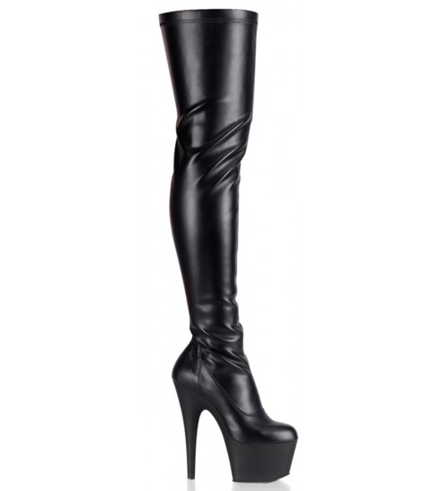 Adore Black Matte Thigh High Platform Boot at CrossDress Fashions,  Womens Clothing for Crossdressers, TG, Female Impersonators