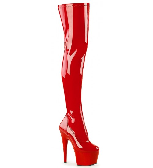 Adore Red Thigh High Platform Boot at CrossDress Fashions,  Womens Clothing for Crossdressers, TG, Female Impersonators