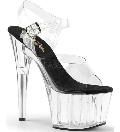 Clear Platform Clear Strap Platform Sandal at CrossDress Fashions,  Womens Clothing for Crossdressers, TG, Female Impersonators