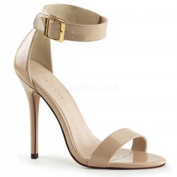 Amuse Cream Ankle Strap Sandal CrossDress Fashions  Womens Clothing for Crossdressers, TG, Female Impersonators