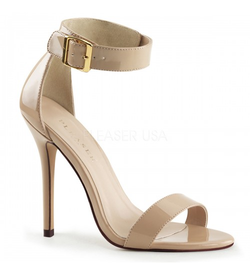 Amuse Cream Ankle Strap Sandal at CrossDress Fashions,  Womens Clothing for Crossdressers, TG, Female Impersonators