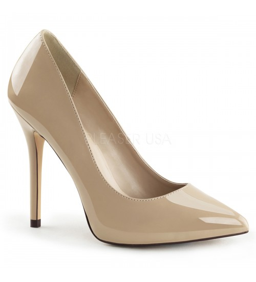 Amuse Cream 5 Inch High Heel Pump at CrossDress Fashions,  Womens Clothing for Crossdressers, TG, Female Impersonators