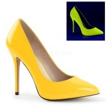 Amuse Neon Yellow 5 Inch High Heel Pump at CrossDress Fashions,  Womens Clothing for Crossdressers, TG, Female Impersonators
