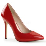 Amuse Red 5 Inch High Heel Pump at CrossDress Fashions,  Womens Clothing for Crossdressers, TG, Female Impersonators