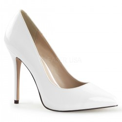 Amuse White 5 Inch High Heel Pump CrossDress Fashions  Womens Clothing for Crossdressers, TG, Female Impersonators