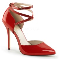 Dorsey Criss Cross Ankle Strap Red Amuse Pump