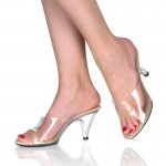 Belle Clear Peep Toe Slide at CrossDress Fashions,  Womens Clothing for Crossdressers, TG, Female Impersonators