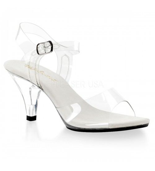 Belle Clear Peep Toe Sandal at CrossDress Fashions,  Womens Clothing for Crossdressers, TG, Female Impersonators