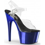 Blue Chrome Platform Clear Strap Platform Sandal at CrossDress Fashions,  Womens Clothing for Crossdressers, TG, Female Impersonators