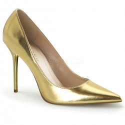 Gold Classique Pointed Toe Pump CrossDress Fashions  Womens Clothing for Crossdressers, TG, Female Impersonators