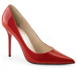 Red Classique Pointed Toe Pump CrossDress Fashions  Womens Clothing for Crossdressers, TG, Female Impersonators