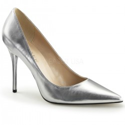 Silver Metallic Classique Pointed Toe Pump CrossDress Fashions  Womens Clothing for Crossdressers, TG, Female Impersonators