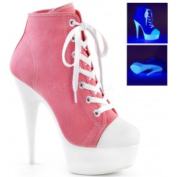 Pink and White High Heel Platform Sneaker CrossDress Fashions  Womens Clothing for Crossdressers, TG, Female Impersonators