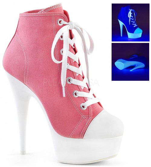 Pink and White High Heel Platform Sneaker at CrossDress Fashions,  Womens Clothing for Crossdressers, TG, Female Impersonators