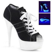 Black High Heel Peep Toe Sneaker