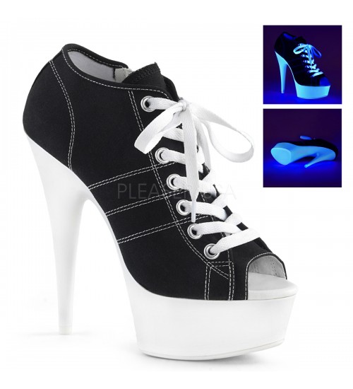 Black High Heel Peep Toe Sneaker at CrossDress Fashions,  Womens Clothing for Crossdressers, TG, Female Impersonators