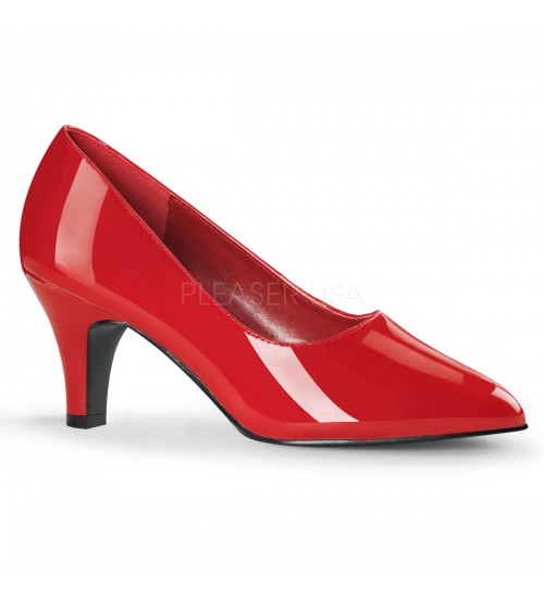 Divine Red Wide Width Pump at CrossDress Fashions,  Womens Clothing for Crossdressers, TG, Female Impersonators