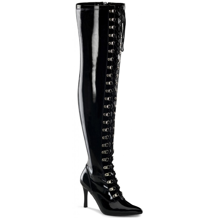 buy \u003e thigh high boots for wide feet