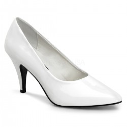 White Classic Pump 420 with 3 Inch Heel CrossDress Fashions  Womens Clothing for Crossdressers, TG, Female Impersonators