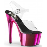 Hot Pink Chrome Platform Clear Strap Platform Sandal at CrossDress Fashions,  Womens Clothing for Crossdressers, TG, Female Impersonators