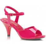 Hot Pink Belle 3 Inch Heel Sandal at CrossDress Fashions,  Womens Clothing for Crossdressers, TG, Female Impersonators