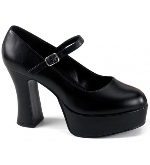 Black Mary Jane Square Heeled Pump at CrossDress Fashions,  Womens Clothing for Crossdressers, TG, Female Impersonators
