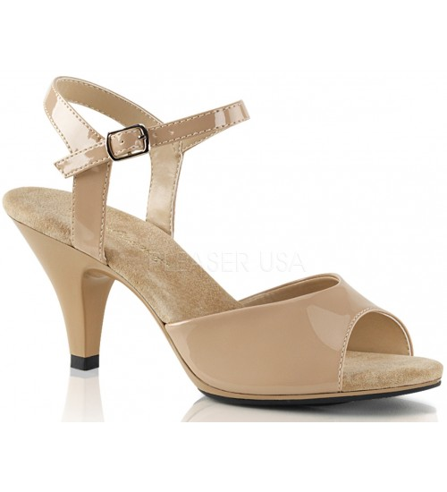Nude Belle 3 Inch Heel Sandal at CrossDress Fashions,  Womens Clothing for Crossdressers, TG, Female Impersonators