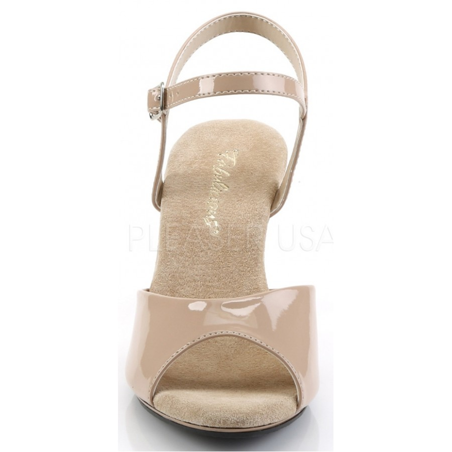 7d3cdfdce6e ... Nude Belle 3 Inch Heel Sandal at CrossDress Fashions